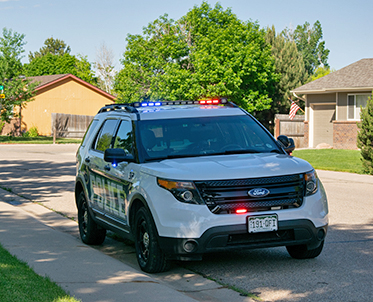 Windsor Police SUV in a neighborhood