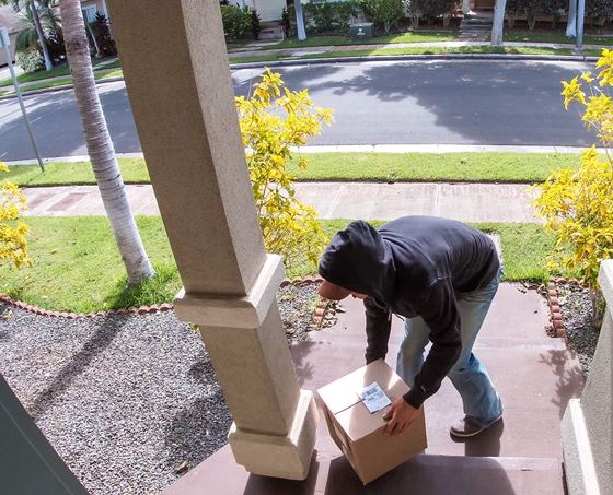Someone caught on camera stealing a package